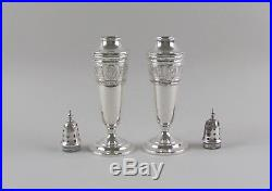 International Silver WEDGWOOD Sterling Silver Salt&Pepper Shaker Set 4.24ozt VG