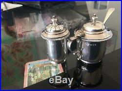 J B Chatterley Solid Silver Cruet Set (1938)