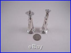 Japanese. 950 Silver Figural Farmers Salt & Pepper Shakers Not Sterling Lovely