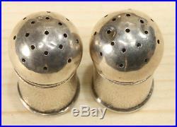 Japanese Antique Sterling Silver Salt and Pepper Shakers Set 314D-7