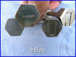 Japanese Shinto Gate Salt & Pepper Shakers Sterling Silver. 970