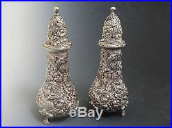 Kirk Stieff Repousse Sterling Silver Salt and Pepper Shaker