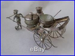 Large Chinese 90 Standard Solid Silver Rickshaw Cruet by Walkee/ L 19 cm