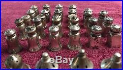 Lot Of 57 Antique Vtg 925 Sterling Silver Salt & Pepper Mini Shakers 473 Grams