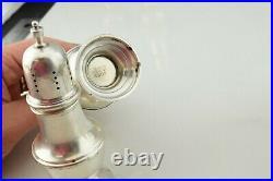 Lot of 3 Sterling Silver Gorham WM Rogers Quaker Salt Pepper Shakers