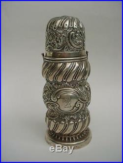 Lovely Victorian Silver Sugar Caster Muffineer Shaker by Rosenthal, Jacob & Co