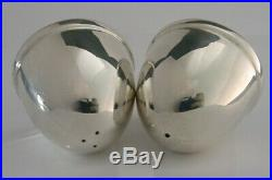 MODERNIST BOXED STERLING SILVER BEE HIVE SALT AND PEPPER POTS 2001 74g