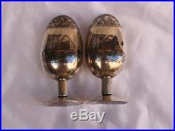 Magnificent 1900 Hand Made Persian 84 Continental Silver Salt & Pepper Shaker