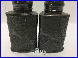 Meriden Britannia Co Silver Plated Salt and Pepper Shakers Antique 1850s-1860s