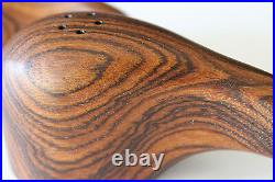 Mid century Don Shoemaker Exotic Cocobolo Wood Salt&Pepper Shakers PERFECT