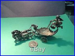 Neoclassical Antique Articulated Silver Salt Cellar Cherub & Chariot Design