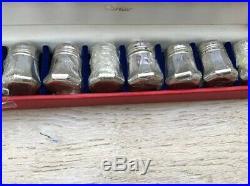 New Vintage Cartier Sterling Salt / Pepper Shakers 4 Sets