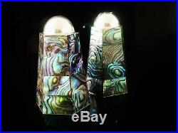 New Zealand Sterling Silver & Paua Shell Salt & Pepper Shakers, 20th Century