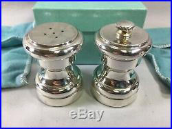Nice vintage Tiffany & Co. Sterling silver salt shaker pepper mill withbags & box