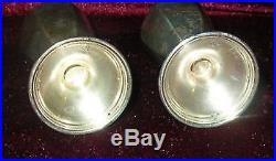 Obo Pair Antique Sterling Silver Salt & Pepper Shakers Nyc Mueck Carey