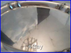 OVAL SERVING TRAY! Vintage BALDWIN & MILLER STERLING. 925 silver LOVELY