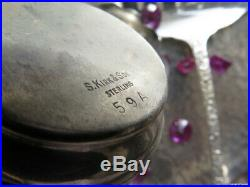 Old 9 Sterling Silver Server Set Kirk Repousse Salt Pepper Shaker Flatware Heavy