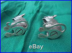 Pair Solid Sterling Silver Hallmarked Mice Mouse Salt & Pepper Cellar Holders