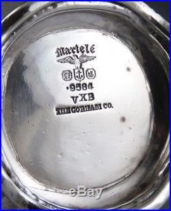 Pair Gorham Martele. 9584 Sterling Silver Hand Wrought Salt & Pepper Shakers