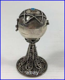 Pair Ivan Alekseevich Alekseev Russian Solid Silver Salt & Pepper Set Sarinksy