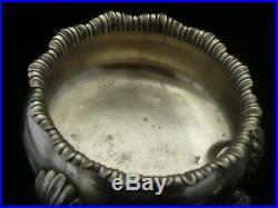 Pair Large Silver Master Salt Cauldrons, D & R Hennell, London 1764, Antique