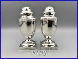 Pair Of George V Sterling Silver Pepper Shakers, George Unite, Birmingham, 1918