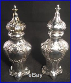 Pair Of Gorham Sterling Silver Salt & Pepper Shakers #438 No Monograms