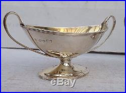 Pair Of Victorian Boat Shaped Sterling Silver Salts, Hallmarked 1877 175.6gms