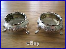 Pair Of Victorian Sterling Silver Salts By Robert Harper 1871