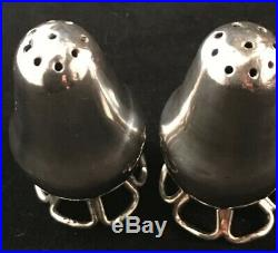 Pair Of William Spratling Sterling Silver Shakers Mid Century Modern Mexican