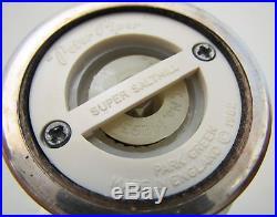 Pair Solid Sterling Silver Salt Pepper Shaker Grinder/Mills English Peter Piper
