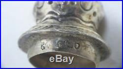 Pair Sterling Silver Pepperettes Salt Pepper Shakers Hallmarks Tb Wb Hh