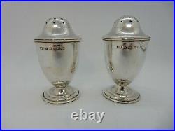 Pair VICTORIAN Solid SILVER PEPPER Pots, Birmingham 1863. George Unite 60g