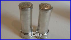 Pair Vintage Rudisill Foundry Co. Sterling Silver Cased Salt & Pepper Shakers