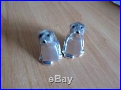 Pair of David Andersen Silver Novelty Polar Bear Salt & Pepper Pots