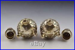 Pair of S. Kirk & Son Inc. Repousse Sterling Silver Salt & Pepper Shakers