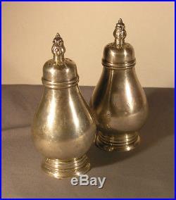 Pair of Vintage International Royal Danish Sterling Salt & Pepper Shakers S107