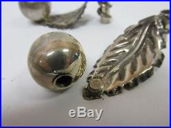 Plat Mex Sa Mexican Sterling Silver Set 3 Sets Salt & Pepper Shakers 6 1/8 Good