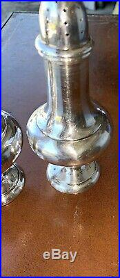 Porter Blanchard Solid Sterling Silver 200+ Grams Salt & Pepper Shakers Set