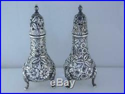 Pr Sterling S KIRK & SON CO Salt & Pepper Shakers REPOUSSE 925/1000 Baltimore
