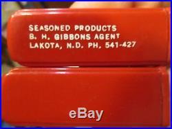 RARE Antique Standard Oil Company Salt & Pepper Shakers LAKOTA, N. D. Gas Pumps