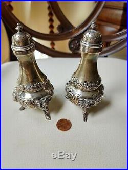 RARE Bigelow Kennard & Co Sterling Silver 925S Salt Pepper Shakers Ram Head 231g