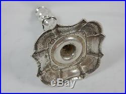RARE, GEORGE II solid sterling silver TAPER STICK, 1749, 118gm