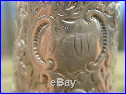RARE S. Kirk & Sons Coin Silver Salt Pepper Shaker 1861