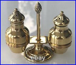 RARE Tiffany & Co. GILT Sterling Silver Salt & Pepper Shaker Set