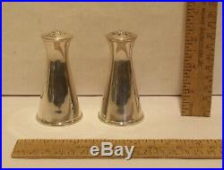 REED & BARTON STERLING X33 SALT & PEPPER SHAKERS Pre-Owned