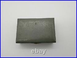 Rare Antique Japanese 950 Sterling Silver Buddha Salt Pepper Set In Original Box