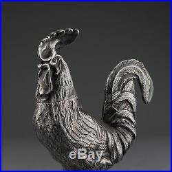 Rare Antique Novelty Solid Sterling Silver Salt / Pepper Shaker, London, 1880