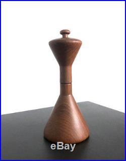 Rare Teak Hourglass Peppermill Quistgaard Dansk Peugeot Mid Century Danish