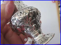 Repousse 19 th C KIRK COIN SILVER 6 inch SUGAR SHAKER exc NR